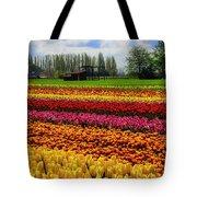 Farming Tulips Tote Bag