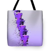 Fashion Models Looking Chic In Violet With A Touch Of Pink Tote Bag