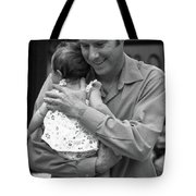Father And Daughter Tote Bag by Catherine Sobredo