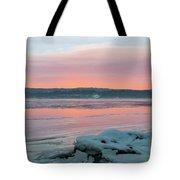 February Sunrise On The Hudson Tote Bag
