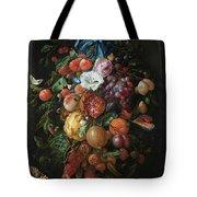 Festoon Of Fruit And Flowers, 1670 Tote Bag