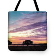 Fiery Sunset Over Canyon Lake - Comal County - Central Texas Hill Country Tote Bag