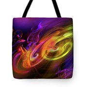 Cellist In Space Tote Bag