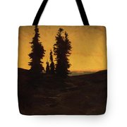 Fir Trees At Sunset Tote Bag
