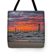First Day Of Fall Sunset Tote Bag