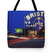 First Night Of The Bristol Sign With New Led Bulbs Tote Bag