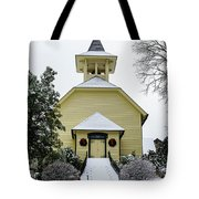 First Presbyterian Church In The Snow Tote Bag
