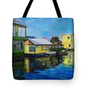 Fisherman's Wharf In Victoria Tote Bag