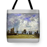 Fishermens Wives At The Seaside - Digital Remastered Edition Tote Bag