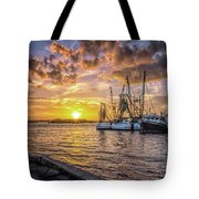 Fishing Boats II Tote Bag by Tom Singleton