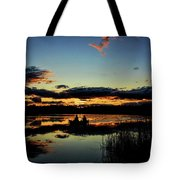 Fishing Day Is Over Tote Bag by Dale Kauzlaric