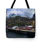 Fishing Village A On Lofoten Tote Bag