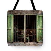 Fishing Village Window Tote Bag by Tom Singleton