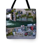 Fishtown Dam Panorama From Above Tote Bag