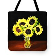 Five Sunflowers Tote Bag