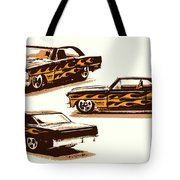 Flamin Chevrolet 66 Nova Tote Bag