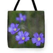 Flax Wildflowers Tote Bag