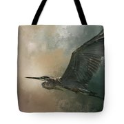 Flight Of The Great Blue Tote Bag