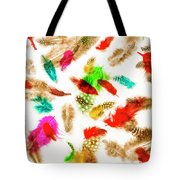 Floating In Colourful Abstract Tote Bag