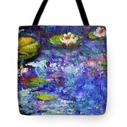 Floating Lilies Oil Painting Tote Bag by Ginette Callaway