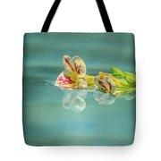 Floating Petunia Tote Bag by Dawn Richards