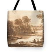 Floodplain With Watering Place  C  Tote Bag