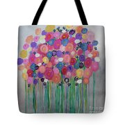 Floral Balloon Bouquet Tote Bag by Kim Nelson