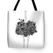 Floral Ostrich Tote Bag