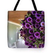 Floral Porch Sitting Tote Bag