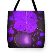 Floral Roses With So Much Passion In Purple  Tote Bag