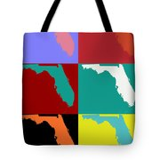 Florida Pop Art Map Tote Bag