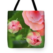 Flower Buds Rising Tote Bag