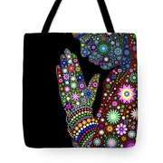Flower Prayer Girl Tote Bag