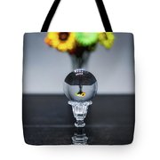 Flowers And Crystal Ball Tote Bag