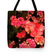 Flowers At Wynn Tote Bag by Laurie Lundquist