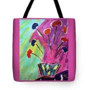 Flowers Gone Wild Tote Bag by Deborah Boyd