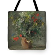 Flowers In A Vase, Circa 1866 Tote Bag