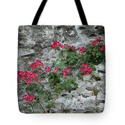 Flowers On Stone Tote Bag