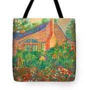 Flowery Backyard Tote Bag