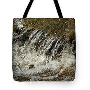 Flowing Water Over Rocks Tote Bag