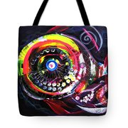 Fluorescent Fish And Friend Tote Bag