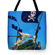 Flying The Pirates Colors Tote Bag