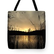 Flying Through A Sunset Tote Bag