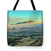 Fog Over Squaw Butte Tote Bag