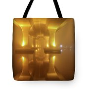 Foggy Bridge Tote Bag by Tom Claud