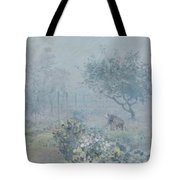 Foggy Morning, Voisins, 1874 Tote Bag