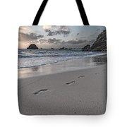 Follow Me Thoughtful Coastal Sunrise Tote Bag