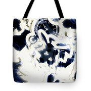 Follow The Blue Rabbit Tote Bag