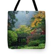 Footbridge In Japanese Garden Tote Bag