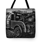 Ford F4 Tow The Truck Business End Black And White Tote Bag